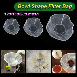 Fine Mesh Wine Strainer Coffee Filter Nylon Filter Bag Nut Milk Bag Bowl Shape