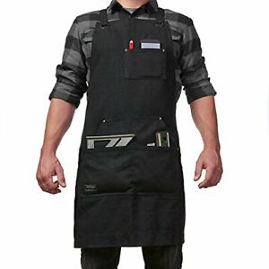 Canvas Work Apron for Men and Women Adjustable Tool Apron with Many Tool Pockets