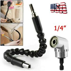 105 Right Angle Drill Adapter Flexible Shaft Extension Bits amp; Screwdriver Holder $6.85