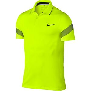 Nike Golf MM Fly Framing Commander Dri Fit Neon Highlight Yellow Shirt Small $80 $34.99