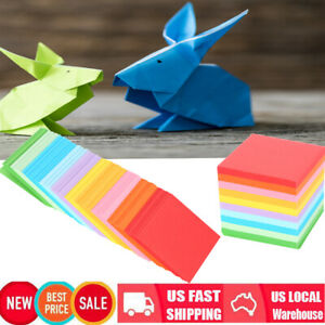 10Colors 520 pcs Folding Paper Double Sided Origami Crane Craft Sheets