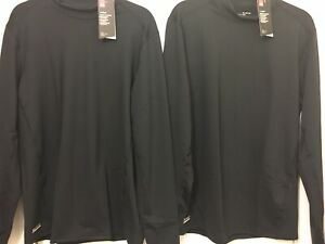 Under Armour Lot Of 2 ColdGear Base Layer Fitted Mock Shirt men XL,BlackTactical $39.99