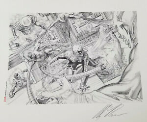 Alex Ross Signed Giclee of Sketch-Sinister Six-SpidermanMysterioDoc OcElectro $250.00