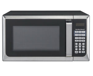 Hamilton Beach Modern 0.9 Cu. Ft. touch-pad Microwave Oven, Stainless Steel