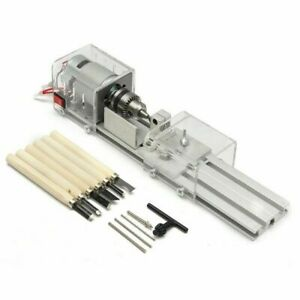 DIY 100W Wood Working Wood Lathe Milling Machine Tool Grinding Polishing Beads