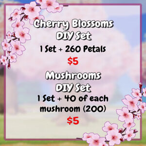 Animal Crossing Cherry Blossom and Mush $5.00