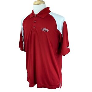 Under Armour Men's Short Sleeve Old South GL Logo Red Golf Polo Shirt Large $21.16