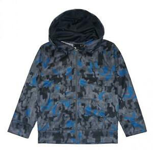 Under Armour Boys Gray & Blue Camouflage Hoodie Size 5 $12.99