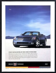 2004 Cadillac XLR Convertible photo quot;Cannot Fly Under Radarquot; vintage print ad