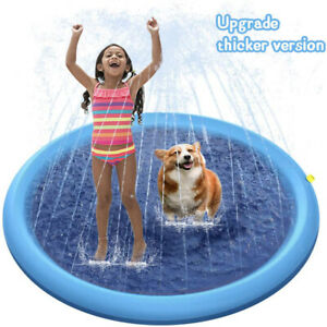 Splash Pad Sprinkler for Dogs Kids Inflatable Wading Pool Water Toys 66.9quot; Large