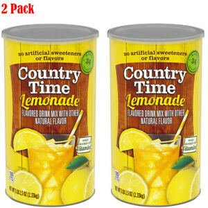 Pack of 2 - Country Time Drink Mix, Lemonade 82.5 oz can - Total 165 oz