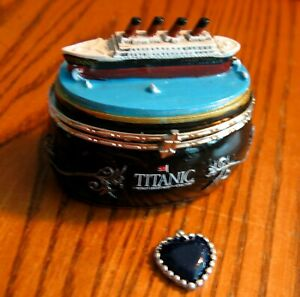 Souvenir TITANIC Trinket Box w Heart of the Ocean from the Titanic Museum