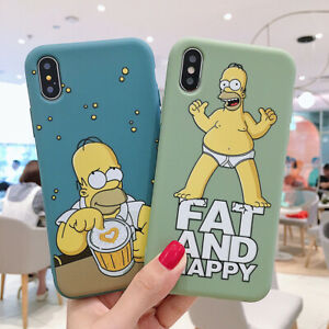 Funny Cartoon Simpson Phone Case Cover For iPhone 7 8 Plus XR Xs Max 11 Pro Cute