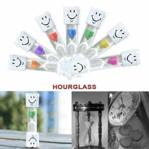 1pcs Decal Children Sand Clock Brush Teeth 3-Minute Smile Face Hourglass Timer