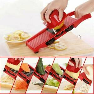 6 Blades Mandoline Slicer Vegetable Fruit Peeler Cutter Cut Grater Chopper Tools