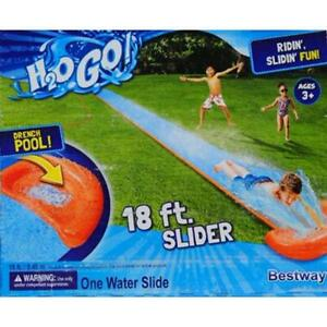 Brand New Bestway H2OGO! Single Water Slip N' Slide 18ft