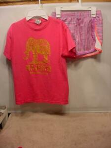 GIRLS CLOTHES DELTA Pro Weight Shirt and UnderArmour Shorts Outfit SIZE 8 $0.99
