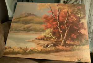 Vintage lithograph print stamped Robert Wood Beautiful $19.30