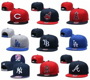 New MLB Baseball Cap Snapback Bill Flat Hats Pick All Teams