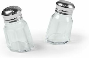 Fred & Friends SUNK-IN Salt and Pepper Shakers, Handblown Glass - Clear