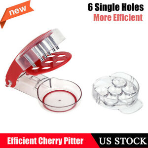 6 Cherries At Once Seed Removal Fruit Olive Cherry Pitter Handheld Press Tool
