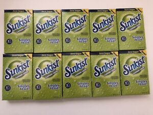 Sunkist LEMON LIME Singles To Go Drink Mix Zero Sugar 10 Boxes (60 Packets) NEW