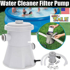 US 110V Electric Swim Pool Cartridge Filter Pump For Above Ground Pools Cleaning