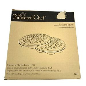 Pampered Chef Black Silicone Microwave Potato Chip Maker #1241 New Open Box
