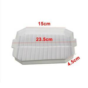 Microwave Bacon Grill Cooker Cookware Tray Rack Pan without Cover Kitchen White