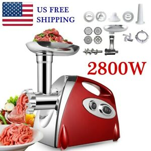 Powerful 2800W Electric Meat Mincer Grinder Sausage Maker Food Grinding Machine