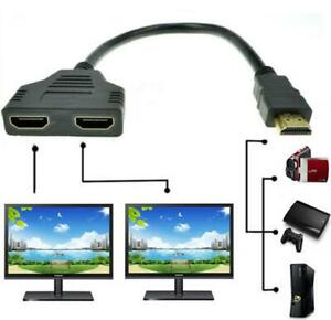 4K HDMI Cable Splitter Adapter 2.0 Converter 1 In 2 Out 1 Male to 2 Female UHD