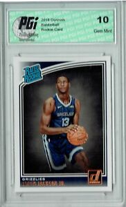 Jaren Jackson Jr. 2018 Donruss Basketball #188 Rookie Card PGI 10