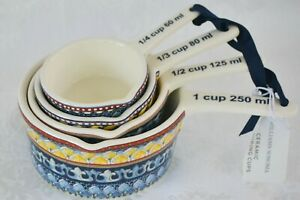Williams-Sonoma Sicily Stoneware Measuring Cups Set of 4 New with Tag