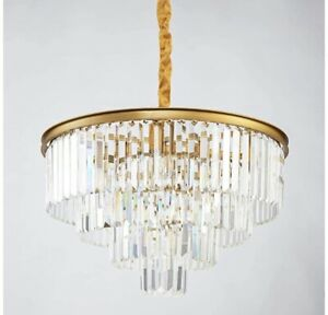 4 Tier European Modern Contemporary Luxurious Crystal Ceiling Chandelier. $85.00