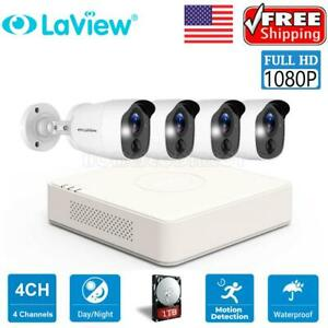 HD 4CH 2MP DVR 1080P IR Outdoor CCTV Home Security Camera System 1TB HDD H.264+