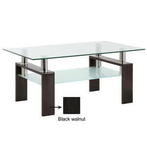 Modern Glass Coffee Table For Living Room Center Tables Furniture Rectangle $89.99