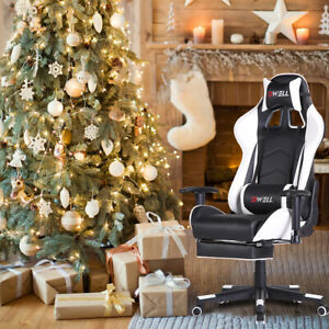 Computer Gaming Chair Office Chair Ergonomic High Back Chair Head Lumbar Support
