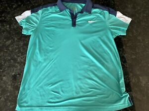 Nike Dri Fit Polo Style Shirt Men's Large for Golf or Tennis $4.99