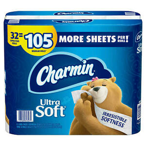 Charmin Ultra Soft Toilet Paper 32 Super Plus Roll 218 Sheets Per Roll