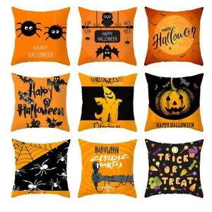 18' Halloween Pumpkin Pillow Case Sofa Waist Cushion Covers Polyester Decor kse