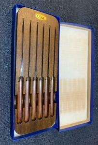 STEAK KNIFE SET BY CASE OF 6  IN ORIGINAL BOX, NEVER USED