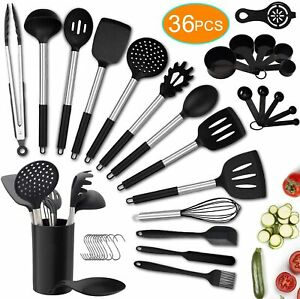 36PCS Kitchen Utensil SetSilicone Cooking Utensils with HolderHeat Resistant