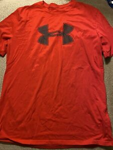Mens Red Under Armour Shirt Large L $10.00