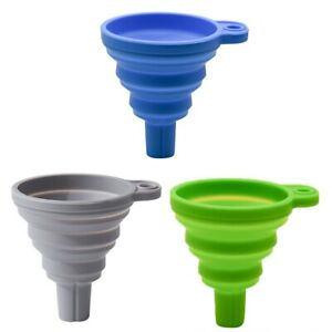 FLEXIBLE Silicone Collapsible Foldable Silicon Kitchen Funnel Hopper drsrgt