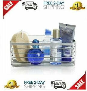 Bathroom Organizer Vacuum Suction Cup Shower Caddy Bath Rustproof Shelf Basket