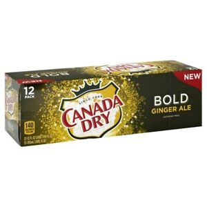 NEW Canada Dry Bold Ginger Ale Soda 12 pack FREE OVERNIGHT SHIPPING