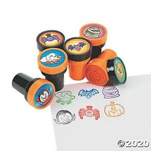 HALLOWEEN 6 Spooky Character Self Ink Stampers Stamps Kids Party Favors