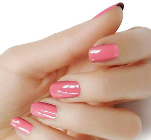 Salmon coral solid color wraps real nail polish strips M15 street art $5.20