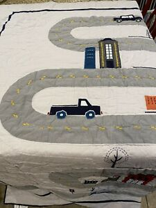 PB Kids Pottery Barn Things That Go Full Queen Quilt Transportation
