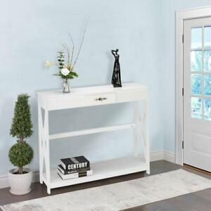 Narrow Narrow Sofa Table Console Display Shelf Living Room Entryway Furniture $54.99